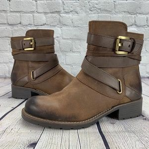 Clarks Orinocco Sash Brown Leather Ankle Boots
